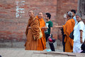 Buddhist monks in Nepal Royalty Free Stock Photo