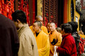 Buddhist monks in Shanghai Stock Image