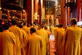 Buddhist monks in Shanghai Stock Photos