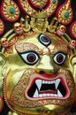 The Buddhist Nepalese god face Royalty Free Stock Image