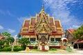 Buddhist pagoda part of temple complex wat plai laem on samui island thailand koh samui Stock Image