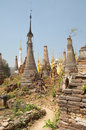 Buddhist pagodas Stock Photo