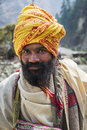 Buddhist pilgrim in Himalaya mountains Stock Photography