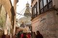 Buddhist pilgrims near stupa boudhanath during festive solemn puja khatmandu nepal dec unidentified of h h drubwang padma norbu Royalty Free Stock Photo