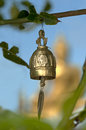 Buddhist prayer bells Stock Photo