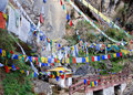 Buddhist prayer flags  Stock Image