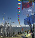 Buddhist Prayer Flags - Kingdom of Bhutan Royalty Free Stock Photo