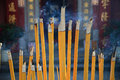 Buddhist prayer joss sticks in a chinese temple Royalty Free Stock Image