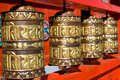 Buddhist praying drums Royalty Free Stock Photography