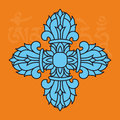 Buddhist religious symbol, vajra or dorje, male attribute,vector Royalty Free Stock Image