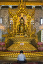Buddhist shrine botatung pagoda bo ta htung central yangon rangoon myanmar burma Stock Images
