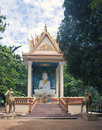 Buddhist shrine in kampot cambodia Royalty Free Stock Images