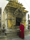 Buddhist Shrine - Kathmandu - Nepal Royalty Free Stock Photos