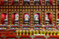 Buddhist shrine wall Royalty Free Stock Photo