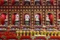 Buddhist shrine wall Royalty Free Stock Photo