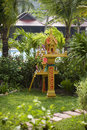Buddhist spirit house Stock Image