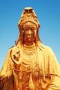 Buddhist statue of guanyin bodhisattva avalokitesvara bodhisattva goddess of mercy east asian traditional chinese or with classic Royalty Free Stock Images