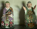 Buddhist statues in Pohyon temple North Korea Royalty Free Stock Photo