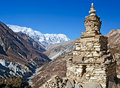 The Buddhist stupa in  Himalayas Stock Images