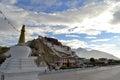 Buddhist stupa and potala palace in tibet home of the dalai lama lhasa Royalty Free Stock Photography