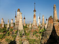 Buddhist Stupas. Indein Royalty Free Stock Images