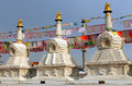 Buddhist stupas near dazhao monastery in hohhot inner mongolia china Royalty Free Stock Images