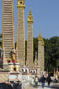 Buddhist temple complex mohnyin thambuddhei paya monywa myanmar burma dates was reconstructed said to contain over images buddha Stock Photography