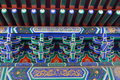 Buddhist temple details closeup of a colourful Royalty Free Stock Image
