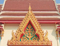 Buddhist temple gable with apex photograph from a in loei province north eastern of thailand Stock Photo