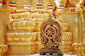 Buddhist temple in ko samui thailand Royalty Free Stock Images