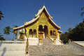 Buddhist temple in luang prabang royal palace laos Royalty Free Stock Photo