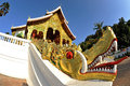 Buddhist temple in luang prabang royal palace laos Royalty Free Stock Photography