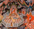 Thai Buddhist temple mural painting art Royalty Free Stock Photo