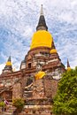 Buddhist temple phra chedi chaimongkol ayutthaya in historical park bangkok thailand Stock Photos