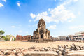 Buddhist temple phra prang sam yod pagoda in lopburi of thailand Stock Photography