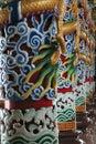 Buddhist Temple Pillars Royalty Free Stock Photo