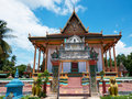 Buddhist temple in rural Cambodia Royalty Free Stock Images