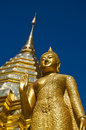 Buddhist Temple of Wat Phrathat Doi Suthep Royalty Free Stock Images