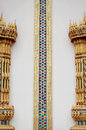 Buddhist Thai Church column Royalty Free Stock Photos