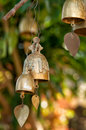 Buddhist wishing bells thailand tradition on a tree in Stock Image