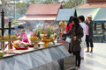 Buddhist worshiping and making religious merit Royalty Free Stock Photos