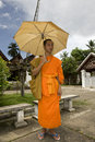 Buddhistic monk in Luang Prabang, Laos Stock Photos