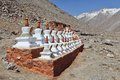 Buddhistic stupas Royalty Free Stock Images