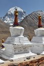 Buddhistic stupas (chorten) in Tibet Royalty Free Stock Image