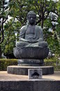 Buddist Statue at the Sensoji Temple in Tokyo Royalty Free Stock Photo