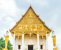 Buddist temple building with laos style decoration Stock Images