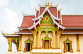 Buddist temple building with laos style decoration Stock Photo