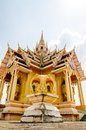 Buddist temple in thailand and blue sky Stock Images