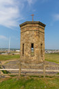 Bude tower above compass point north cornwall between tintagel and clovelly england uk on a beautiful sunny summer day Royalty Free Stock Photo