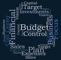 Budget control word cloud on white background Royalty Free Stock Photo